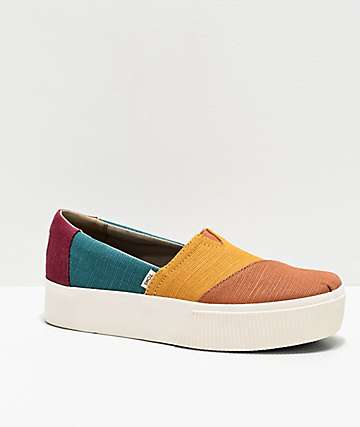TOMS Alpargata Multicolored Platform Shoes