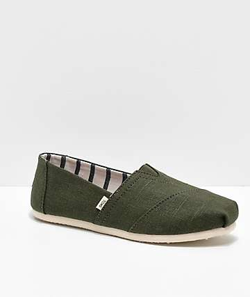 TOMS Alpargata Olive Shoes