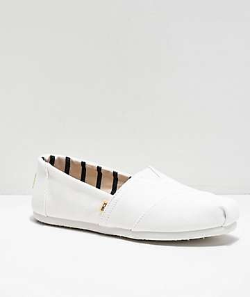 TOMS Classic Alpargata All White Shoes