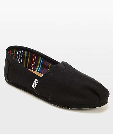 c23b3a98eb3 TOMS Classics All Black Womens Shoes