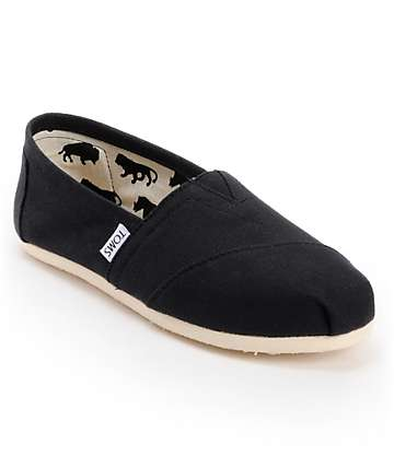 7fc3eac5914 TOMS Classics Canvas Black Slip-On Womens Shoes