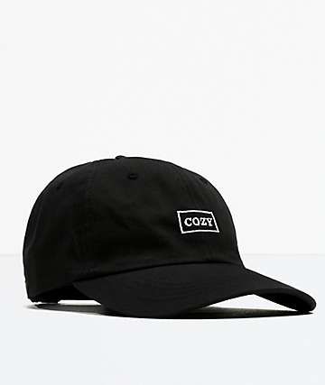 Team Cozy Cozy Box Black Strapback Hat