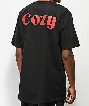 Team Cozy Newsman Black T-Shirt