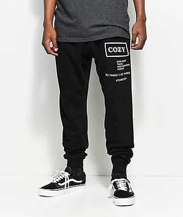 Team Cozy Shooter Black Sweatpants