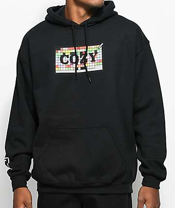 Team Cozy Swatch Box Black Hoodie