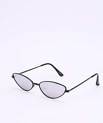 Tear Drop Black Sunglasses