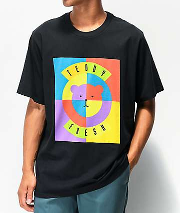 Teddy Fresh Circle Bear Black T-Shirt