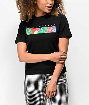 Teddy Fresh Color Bar Black T-Shirt