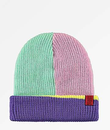 Teddy Fresh Color Block Beanie