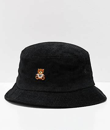 Teddy Fresh Corduroy Black Bucket Hat