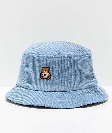 Teddy Fresh Corduroy Blue Bucket Hat