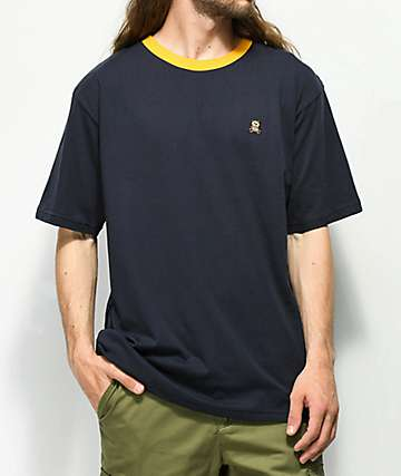 Teddy Fresh Embroidered Navy Ringer T-Shirt