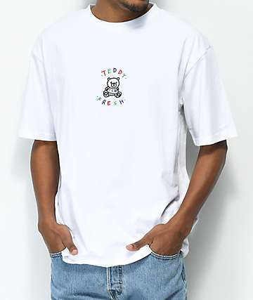 Teddy Fresh Embroidery White T-Shirt