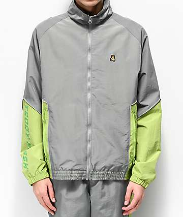 Teddy Fresh Grey & Green Nylon Track Jacket