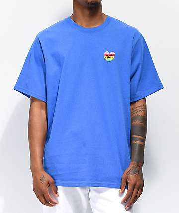 Teddy Fresh Heart Mom Blue T-Shirt