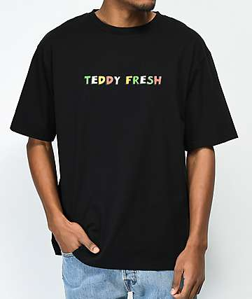 Teddy Fresh Logo Black T-Shirt