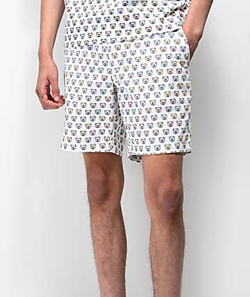 Teddy Fresh Monogram Elastic Waist Chino Shorts