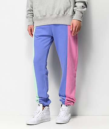 Teddy Fresh Pastel Color Blocked Jogger Sweatpants