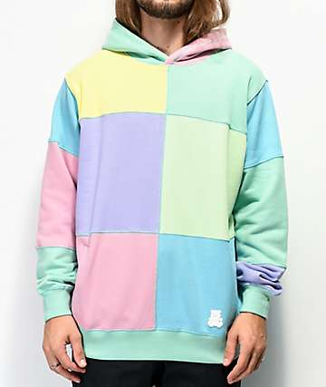 Teddy Fresh Patchwork Sunrise Mint Colorblock Hoodie