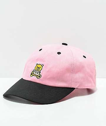 Teddy Fresh Pink & Black Strapback Hat