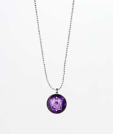 Teddy Fresh Purple Dome collar que brilla en la oscuridad