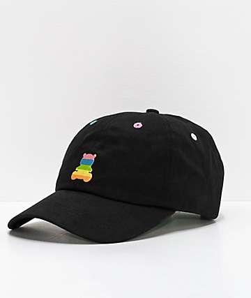9d556e97 Teddy Fresh Rainbow Bear Black Strapback Hat