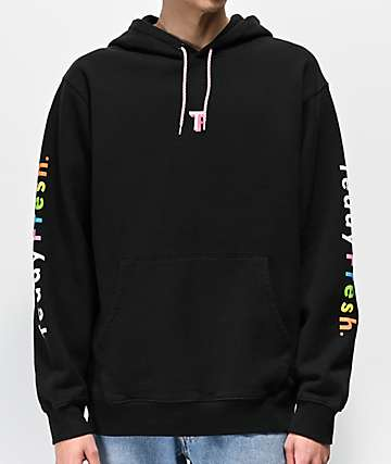 Teddy Fresh Rainbow Black Hoodie