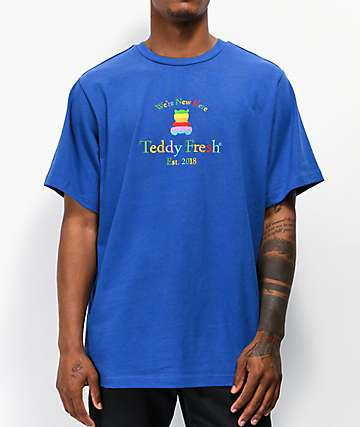 Teddy Fresh Rainbow Silhouette Blue T-Shirt