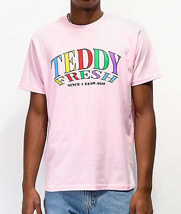 Teddy Fresh Since 1 Year Ago Light Pink T-Shirt