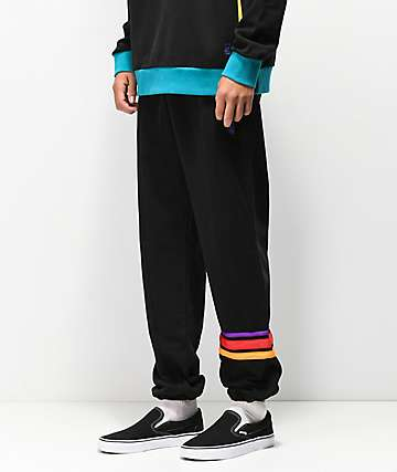 Teddy Fresh Striped Black Joggers