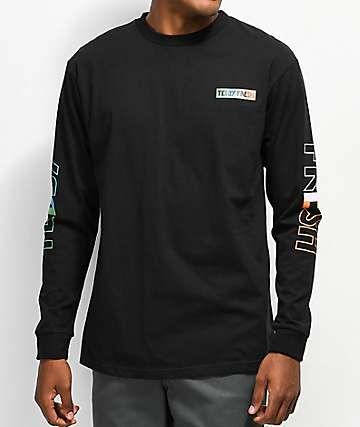 Teddy Fresh Tones Black Long Sleeve T-Shirt
