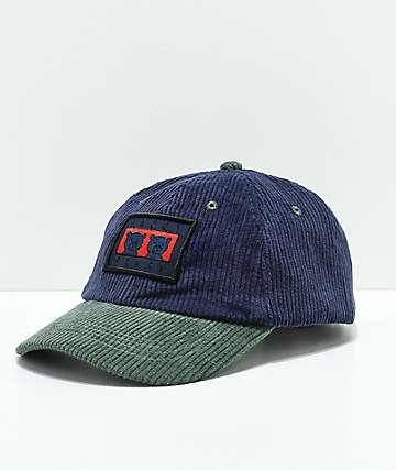 Teddy Fresh Two Teds Patch Blue Corduroy Strapback Hat