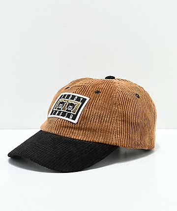 Teddy Fresh Two Teds gorra strapback de pana marrón y negro