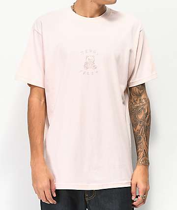 Teddy Fresh camiseta rosa bordada