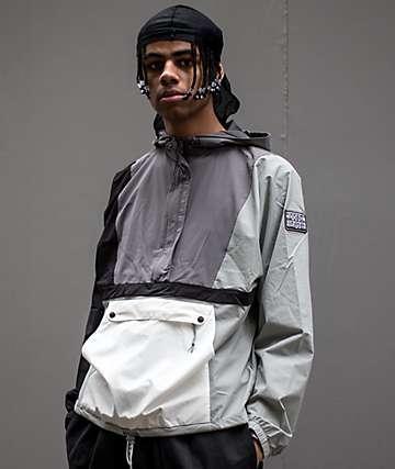 Teddy Fresh chaqueta anorak gris