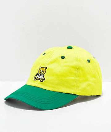 Teddy Fresh gorra strapback amarilla y verde