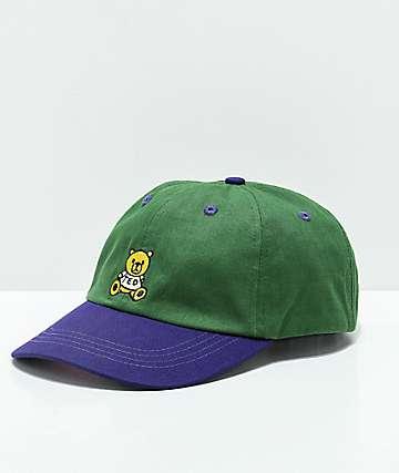 Teddy Fresh gorra strapback verde y morada