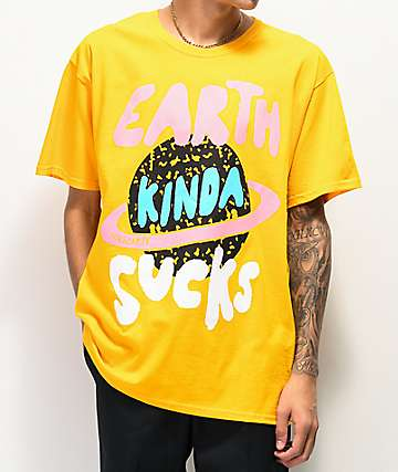 Teen Hearts Earth Sucks Gold T-Shirt