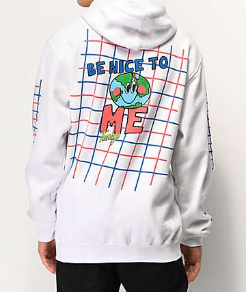 Teenage Be Nice White Hoodie
