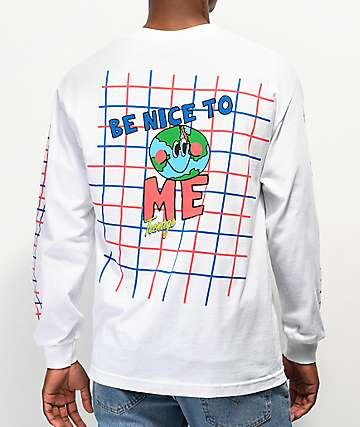 Teenage Be Nice White Long Sleeve T-Shirt