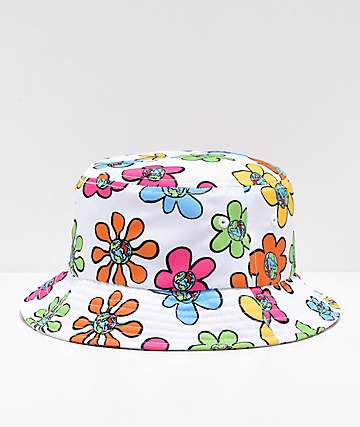 Teenage Bored Skies White Bucket Hat