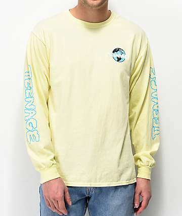 Teenage Cloudy Yellow Long Sleeve T-Shirt