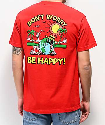 Teenage Don't Worry Red T-Shirt