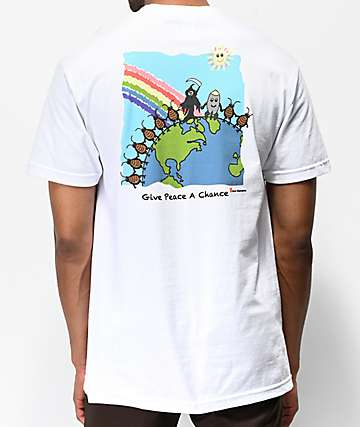 Teenage Give Peace White T-Shirt