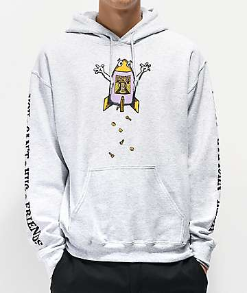 Teenage Hug Friends Grey Hoodie