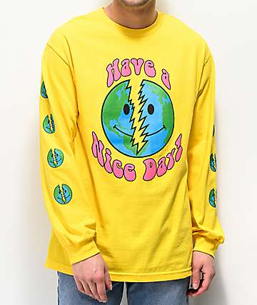 Teenage Nice Day Yellow Long Sleeve T-Shirt