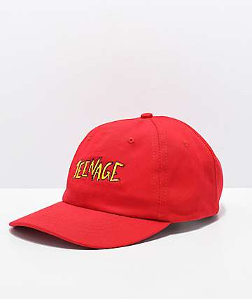 Teenage Red Strapback Hat