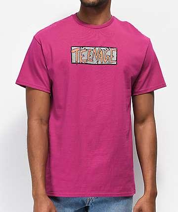 Teenage Scratchy Swirl Purple T-Shirt