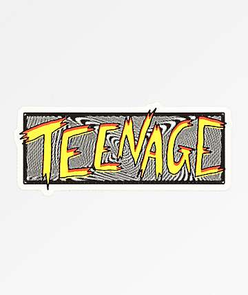 Teenage Scratchy Swirl Sticker