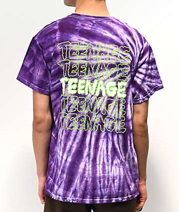 Teenage Too Much Cloud Purple Tie Dye T-Shirt